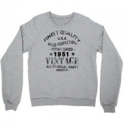 vintage 1951 black Crewneck Sweatshirt | Artistshot
