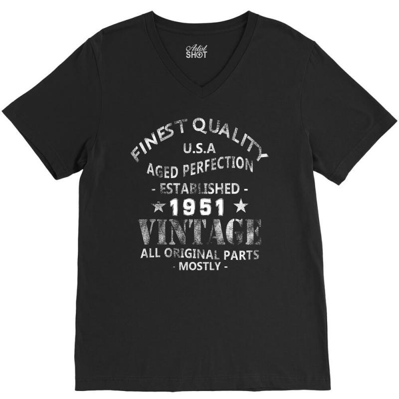 Vintage 1951 V-neck Tee   Artistshot
