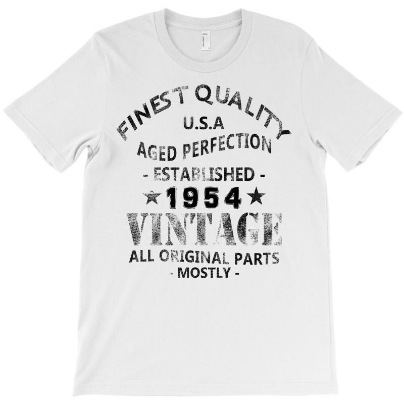 Vintage 1954 Black T-shirt   Artistshot