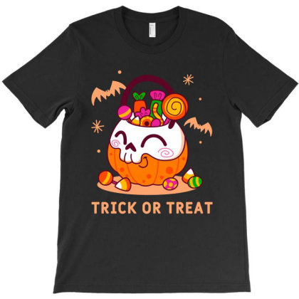 Trick Or Treat - Halloween Gift Funny T-shirt Designed By Diogo Calheiros