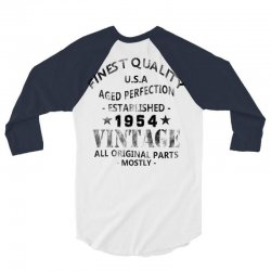 vintage 1954 black 3/4 Sleeve Shirt   Artistshot