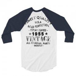 vintage 1955 black 3/4 Sleeve Shirt | Artistshot