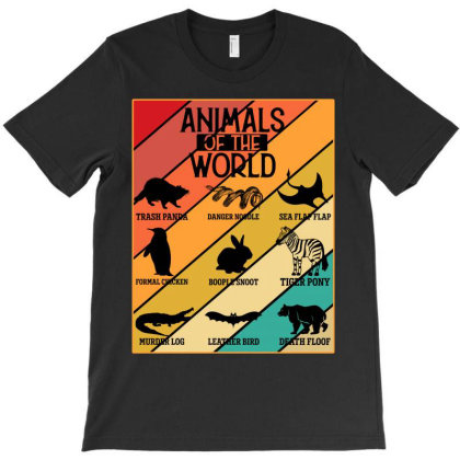 Animals Of The World T-shirt Designed By Badaudesign