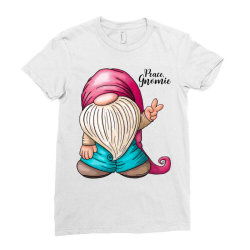 peace gnomie Ladies Fitted T-Shirt | Artistshot