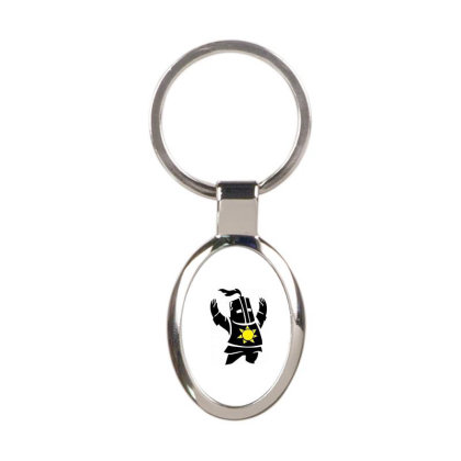 Dark Souls Solaire Oval Keychain Designed By Hbk
