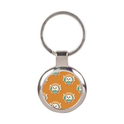 Team Rowlet Round Keychain Designed By Rardesign