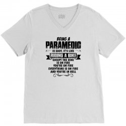 being a paramedic V-Neck Tee | Artistshot