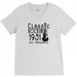 rocking since 1951 V-Neck Tee   Artistshot