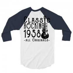 rocking since 1958 3/4 Sleeve Shirt | Artistshot