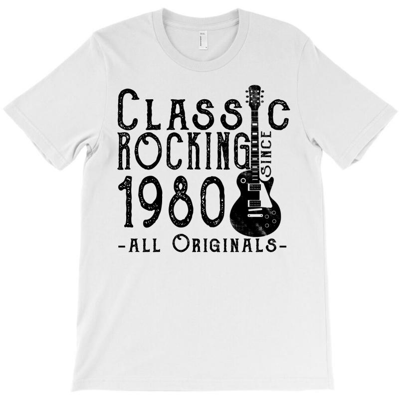 Rocking Since 1980 T-shirt   Artistshot