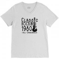 rocking since 1980 V-Neck Tee   Artistshot