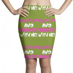 shut up dance with me Pencil Skirts   Artistshot