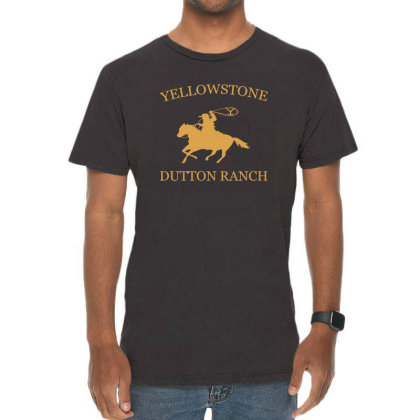Yellow Stone Brand Logo Vintage T-shirt Designed By Sezapinka