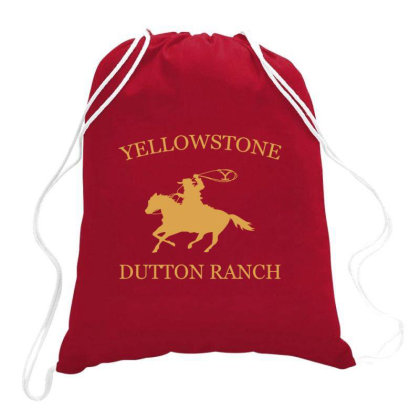 Yellow Stone Brand Logo Drawstring Bags Designed By Sezapinka