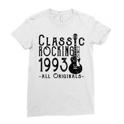 Rocking Since 1993 Ladies Fitted T-shirt Designed By Teresabrador