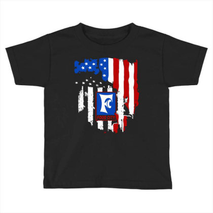 Food City American Flag Independence Day Toddler T-shirt Designed By Jasmine Tees