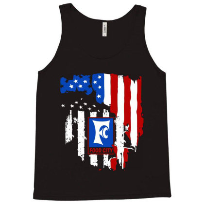 Food City American Flag Independence Day Tank Top Designed By Jasmine Tees