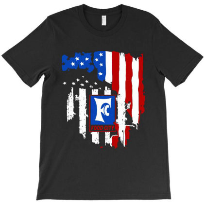 Food City American Flag Independence Day T-shirt Designed By Jasmine Tees