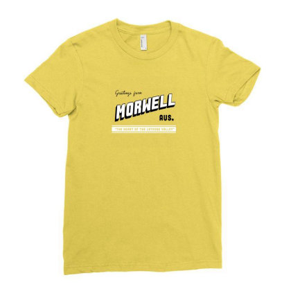 Morwell Logo Ladies Fitted T-shirt Designed By Dizzytrina