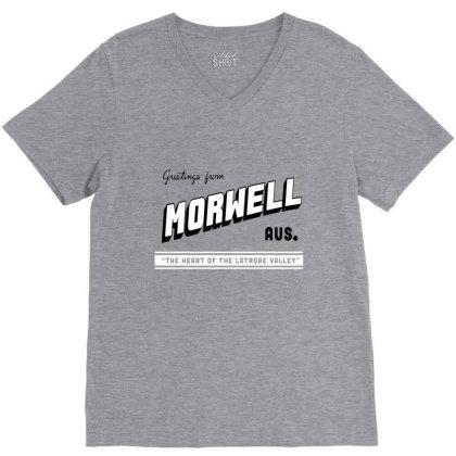 Morwell Logo V-neck Tee Designed By Dizzytrina