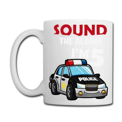 Birthday Boy 5 Years Old Police Car Policeman Cop Coffee Mug