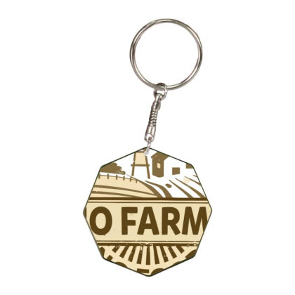No Farms No Food Octagon Keychain Designed By Nhan0105