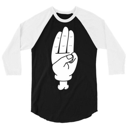 Hunger Games Salute 3/4 Sleeve Shirt Designed By Nhan0105
