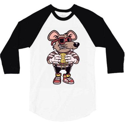 Rat Burglar T Shirt 3/4 Sleeve Shirt Designed By Goddesign