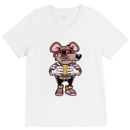 Rat Burglar T Shirt V-neck Tee Designed By Goddesign