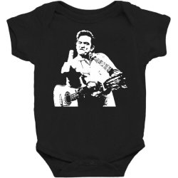 johnny cash middle finger Baby Bodysuit | Artistshot