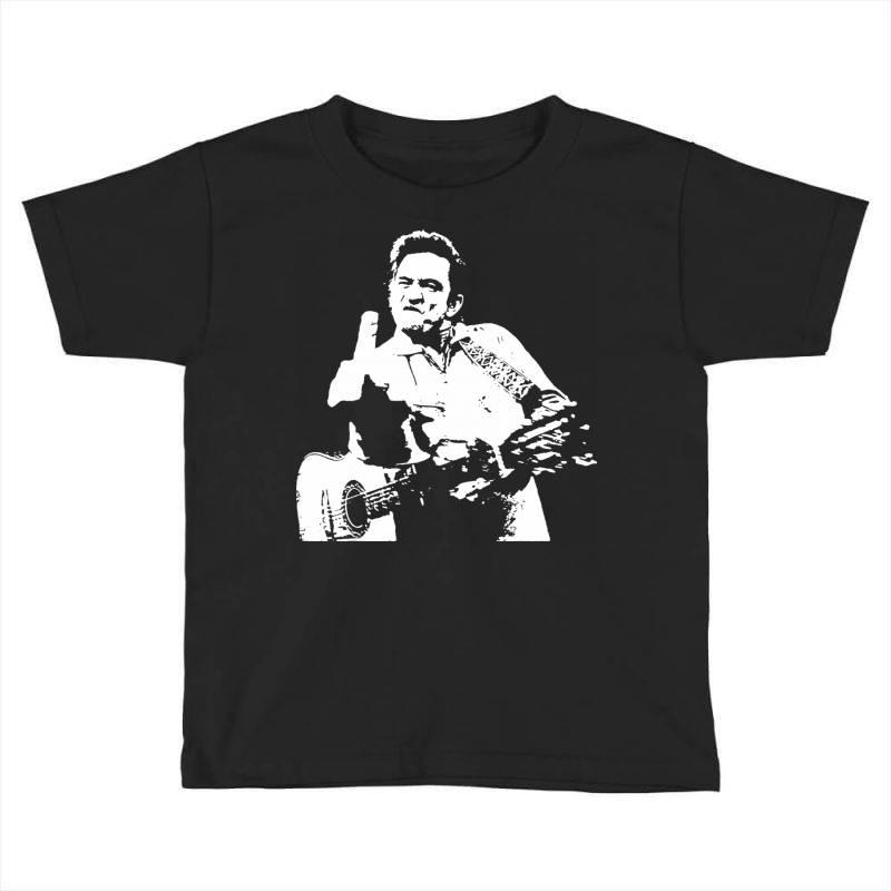 Johnny Cash Middle Finger Toddler T-shirt | Artistshot