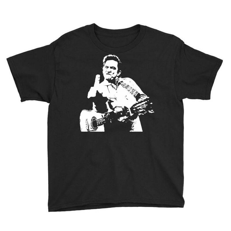 Johnny Cash Middle Finger Youth Tee | Artistshot
