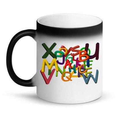 Alphabet Letters Magic Mug Designed By Chiks