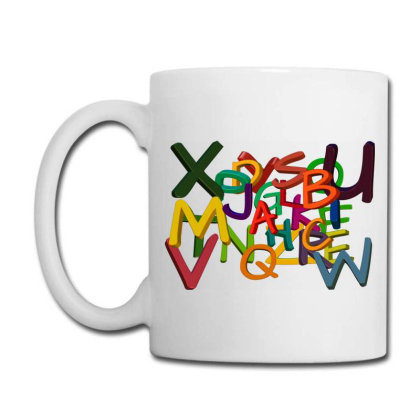 Alphabet Letters Coffee Mug Designed By Chiks