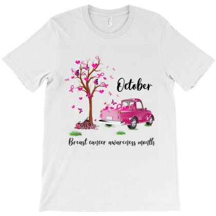 Pumpkin Pink Truck October Breast Cancer Awareness Month T-shirt Designed By Conco335@gmail.com