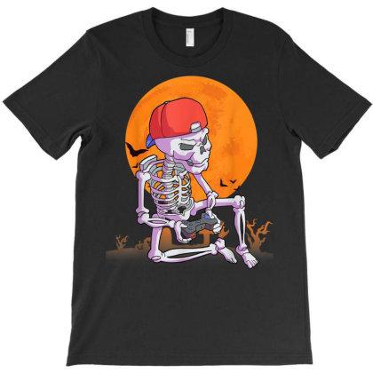 Halloween Shirt Men Boys Gamer Gift Skeleton Shirt For Boys T-shirt Designed By Nhan0105