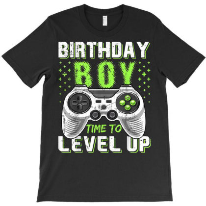 Birthday Boy Time To Level Up Video Game Birthday Gift Boys T-shirt Designed By Nhan0105