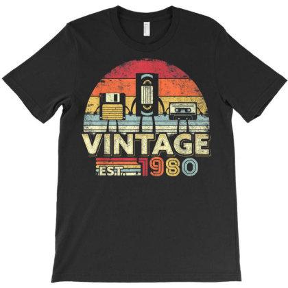 1980 Shirt. Vintage 40th Birthday Gift, Funny Music Tech T-shirt Designed By Nhan0105