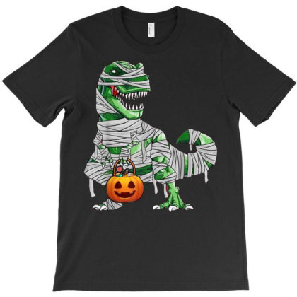 Halloween Pumpkin Dinosaur T Shirt Gift For Kids Boys T-shirt Designed By Nhan0105