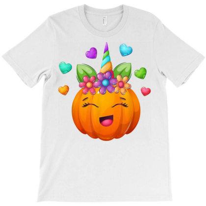Cute Unicorn Pumpkin For Halloween Girls T-shirt Designed By Nhan0105