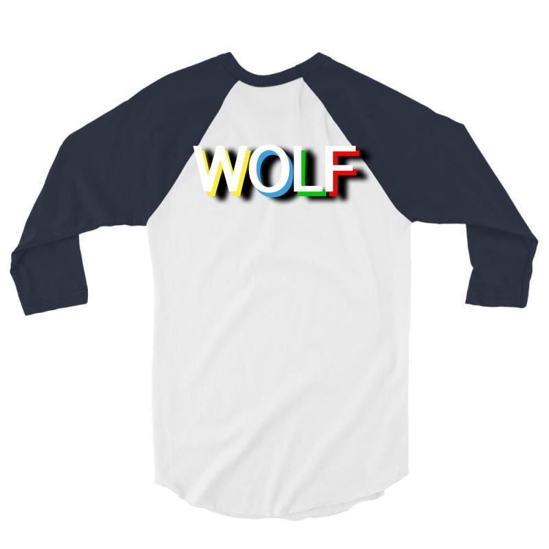 Wolf 3/4 Sleeve Shirt   Artistshot