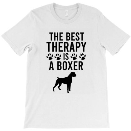 The Best Therapy Is A Boxer T-shirt Designed By Cypryanus