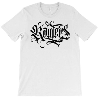 Raiders Dark Lettering T-shirt Designed By Tiococacola