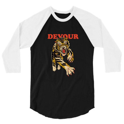 Devour 3/4 Sleeve Shirt Designed By Blackstone
