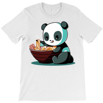 Ramen Panda T-shirt Designed By Bendron
