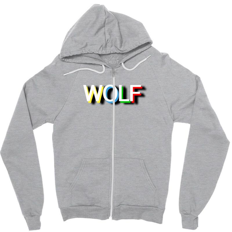 Wolf Zipper Hoodie   Artistshot