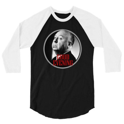 Master Of Horror Alfred Hitchcock Good Evening 3/4 Sleeve Shirt Designed By Bibiss