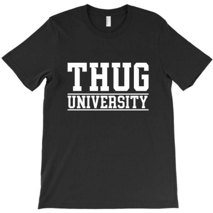 Thug University License Plate T-shirt Designed By Tiococacola
