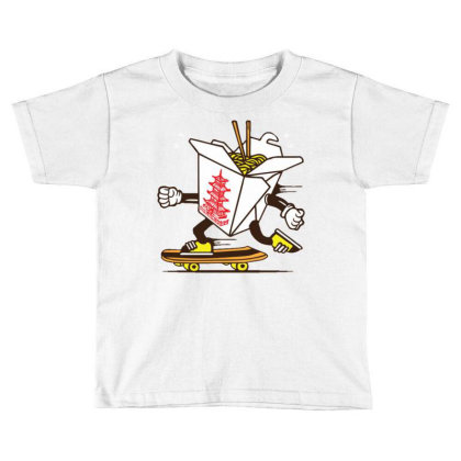 Asian Food Take Away Box Skater Skateboard Toddler T-shirt Designed By Traart