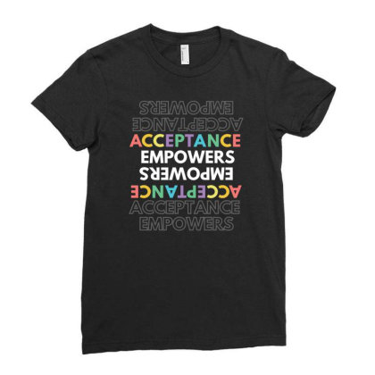 Acceptance Ladies Fitted T-shirt Designed By Khanfarhan670